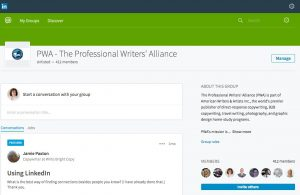Professional Writers' Alliance photo: Connect with other freelance writers in our PWA LinkedIn group