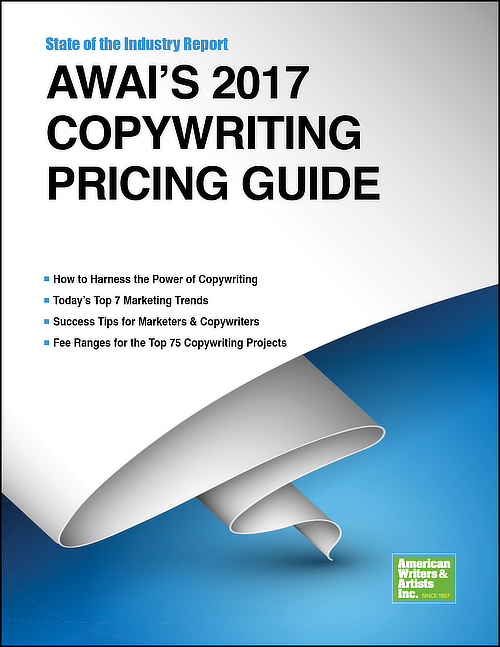 Each year, AWAI publishes its copywriting State of the Industry Report: Copywriting Pricing Guide.