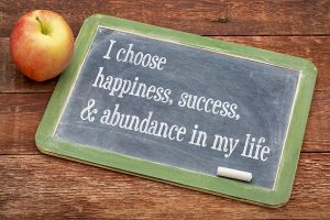 "Writing affirmation: ""I choose happiness, success, & abundance in my life."""